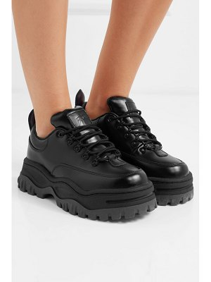 Eytys angel glossed-leather platform sneakers