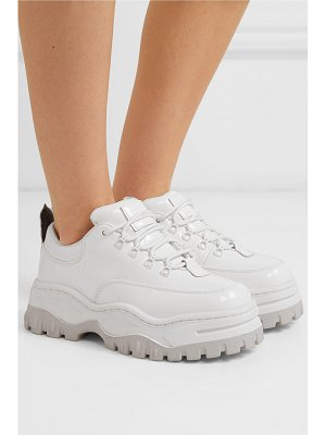 Eytys angel patent-leather platform sneakers