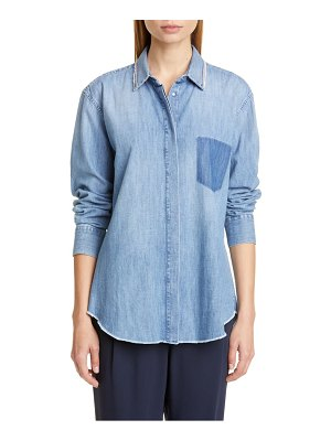 Fabiana Filippi chain trim chambray shirt