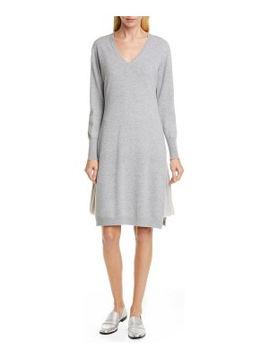 Fabiana Filippi layered long sleeve sweater dress