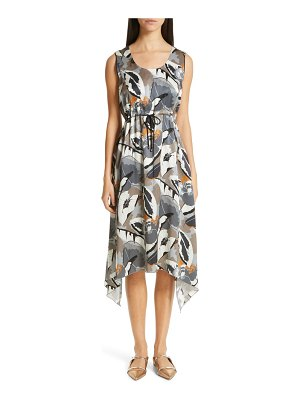 Fabiana Filippi print satin midi dress