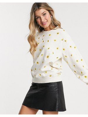 Fabienne Chapot lucy embroidered sunflower sweater in white