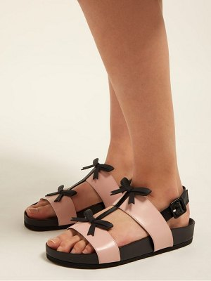 a7e2e2721e1b Valentino Dollybow Bow-Embellished Leather Sandals in Pink