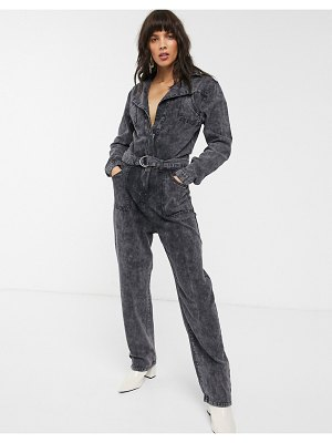 FAE black tie-dye relaxed belted boilersuit-multi