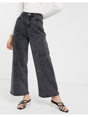 FAE black tie-dye wide leg jeans-multi