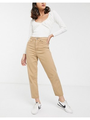 FAE high waisted mom jeans in beige-brown