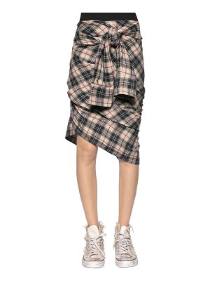 Faith Connexion Check plaid heavy gauze shirt skirt