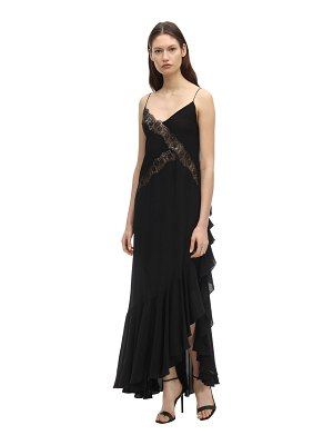 Faith Connexion Long satin dress w/ lace