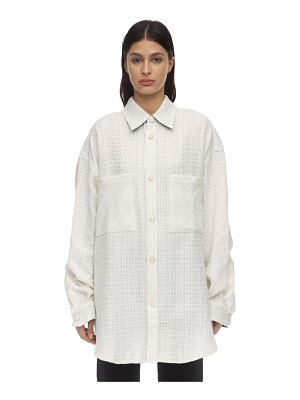 Faith Connexion Oversize embellished tweed jacket