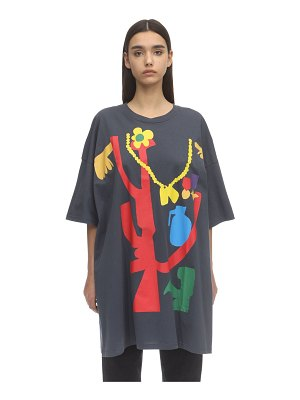 Faith Connexion Printed cotton jersey t-shirt dress