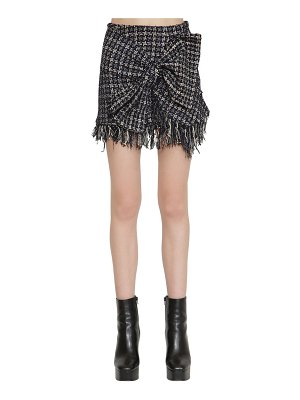 Faith Connexion Techno tweed mini skirt w/ bow