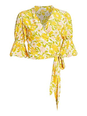 FAITHFULL THE BRAND bisset floral wrap top