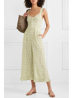 FAITHFULL THE BRAND bodhi cropped shirred floral-print crepe jumpsuit