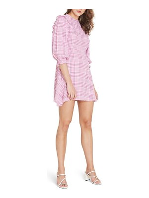 FAITHFULL THE BRAND edwina puff sleeve minidress