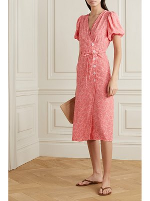 FAITHFULL THE BRAND fran floral-print crepe midi wrap dress