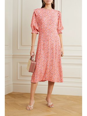 FAITHFULL THE BRAND jean-marie floral-print crepe midi dress