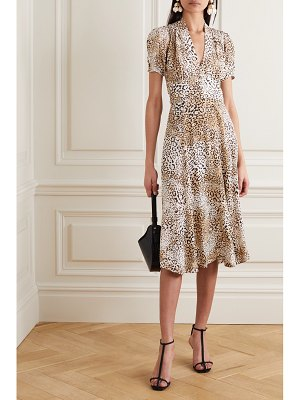 FAITHFULL THE BRAND meadows leopard-print crepe midi dress