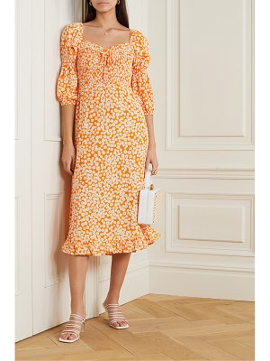 FAITHFULL THE BRAND nora shirred floral-print crepe midi dress