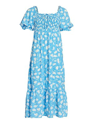 FAITHFULL THE BRAND olinda puff-sleeve floral midi dress