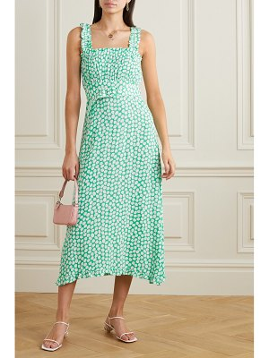 FAITHFULL THE BRAND saint tropez belted ruffled floral-print crepe midi dress