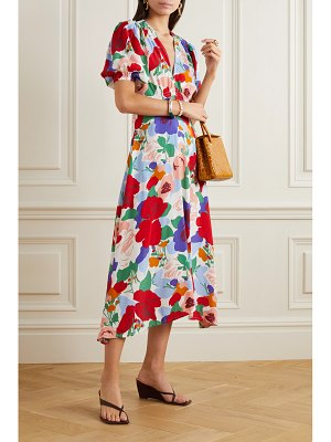 FAITHFULL THE BRAND vittoria floral-print crepe midi dress
