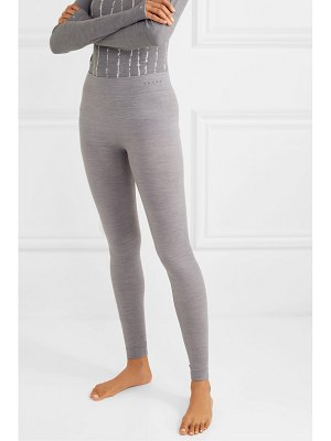 FALKE Ergonomic Sport System mélange wool-blend leggings