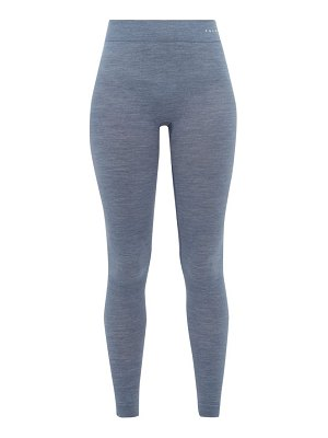 FALKE wool tech virgin wool blend thermal leggings