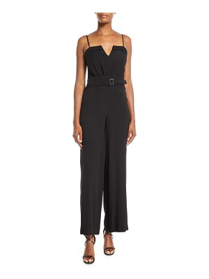 Fame and Partners Faris Georgette Jumpsuit w/ Belted Waist