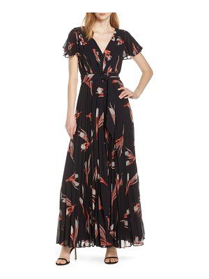 Fame and Partners floral print pleated jumpsuit