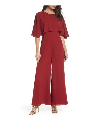 Fame and Partners georgette jumpsuit with removable cape