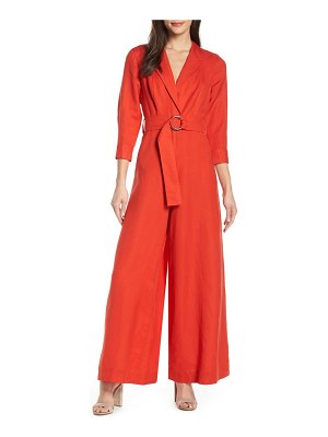Fame and Partners lianna belted waist jumpsuit