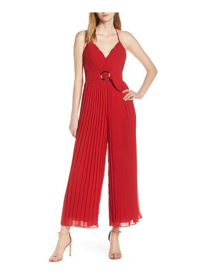 Fame and Partners o-ring pleated jumpsuit