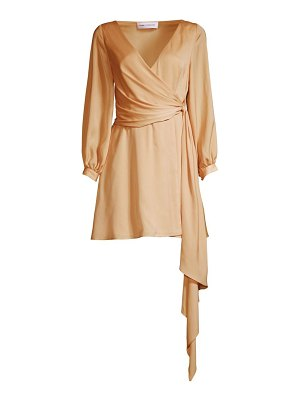 Fame and Partners the eccles wrap mini dress