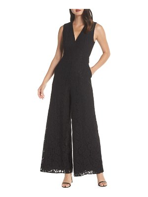 Fame and Partners the hart lace wide leg jumpsuit