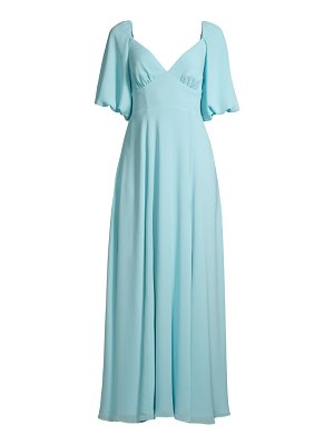 Fame and Partners the madelyn puff-sleeve georgette gown