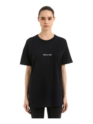 FAMT - FUCK ART MAKE TEES Hell is real cotton jersey t-shirt