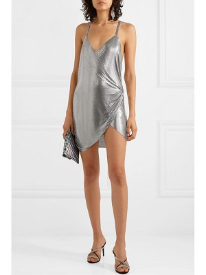 FANNIE SCHIAVONI iza chainmail wrap mini dress