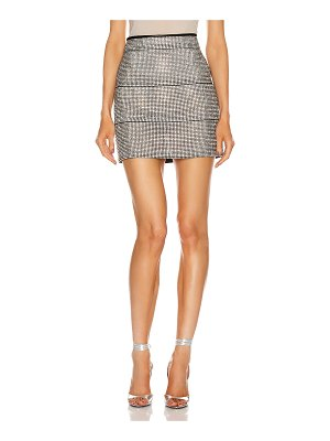 FANNIE SCHIAVONI rosa skirt with crystals