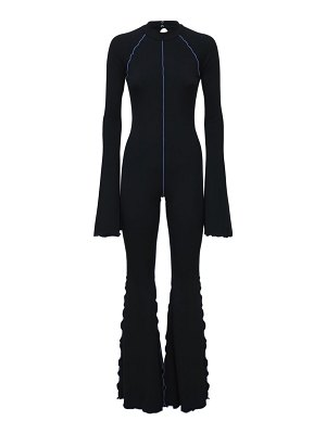 FANTABODY Dani flared recycled jersey jumpsuit