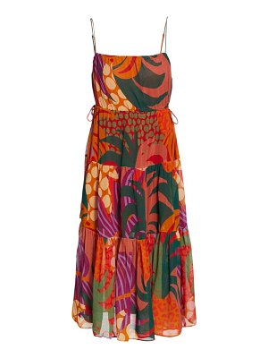 Farm Rio jungle print midi dress