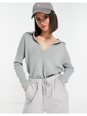 Fashion Union wide collar ribbed sweater