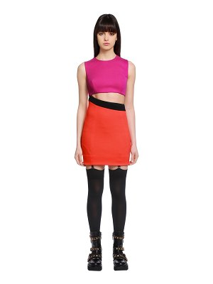 Fausto Puglisi Cutout wool jersey mini dress