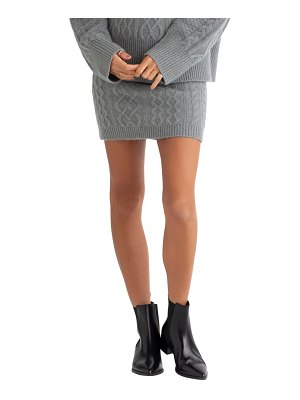 FAVORITE DAUGHTER cable knit miniskirt