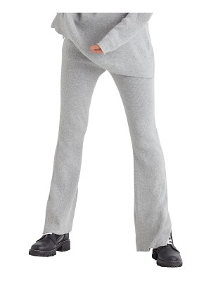 FAVORITE DAUGHTER cotton & cashmere rib knit flare pants