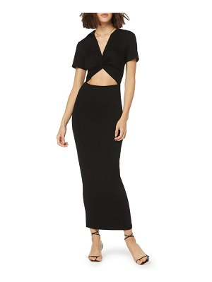 FAVORITE DAUGHTER day to night cutout knit maxi dress