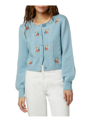 FAVORITE DAUGHTER mimi nana embroidered wool & cashmere cardigan