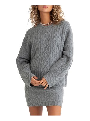 FAVORITE DAUGHTER oversize cable knit sweater