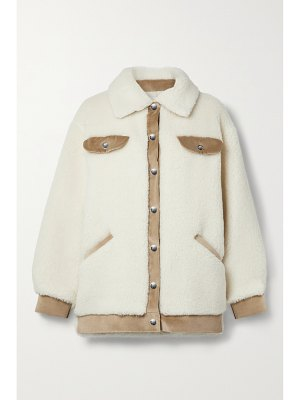 Faz not Fur velvet frost corduroy-trimmed wool and cotton-blend faux shearling jacket