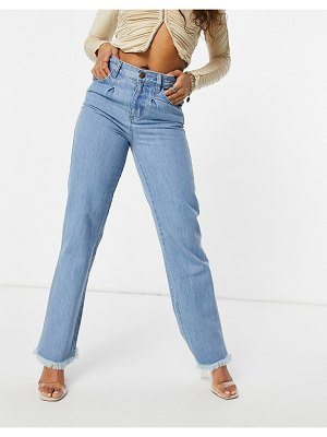 Femme Luxe baggy jean in washed blue-blues