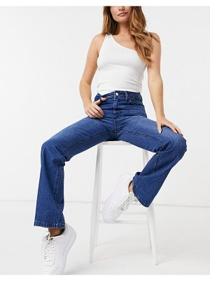 Femme Luxe high waist slim flares in blue-blues